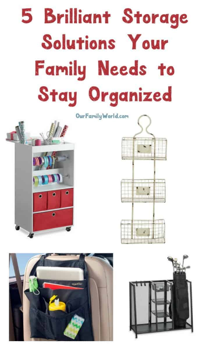 Looking for creative and clever ways to stay organized as we head into the busy fall season? Check out these smart storage solutions!