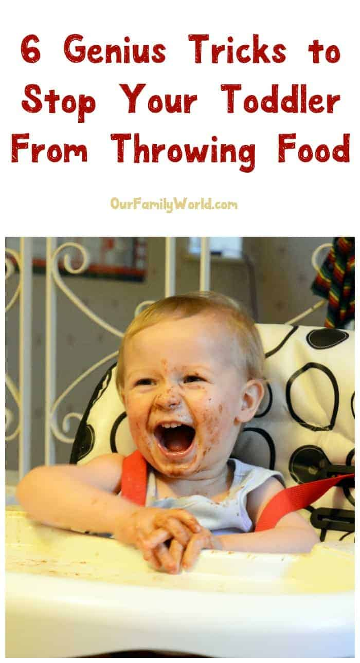 Dealing with a tot that likes to toss his spaghetti across the room? Check out these six genius tips to stop food throwing in your toddler!