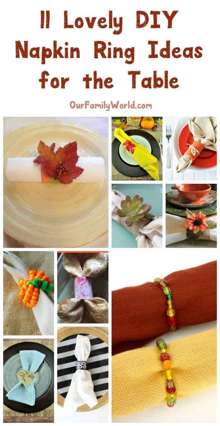 11 Lovely Diy Napkin Ring Ideas For The Table In Feb 2021 Ourfamilyworld Com