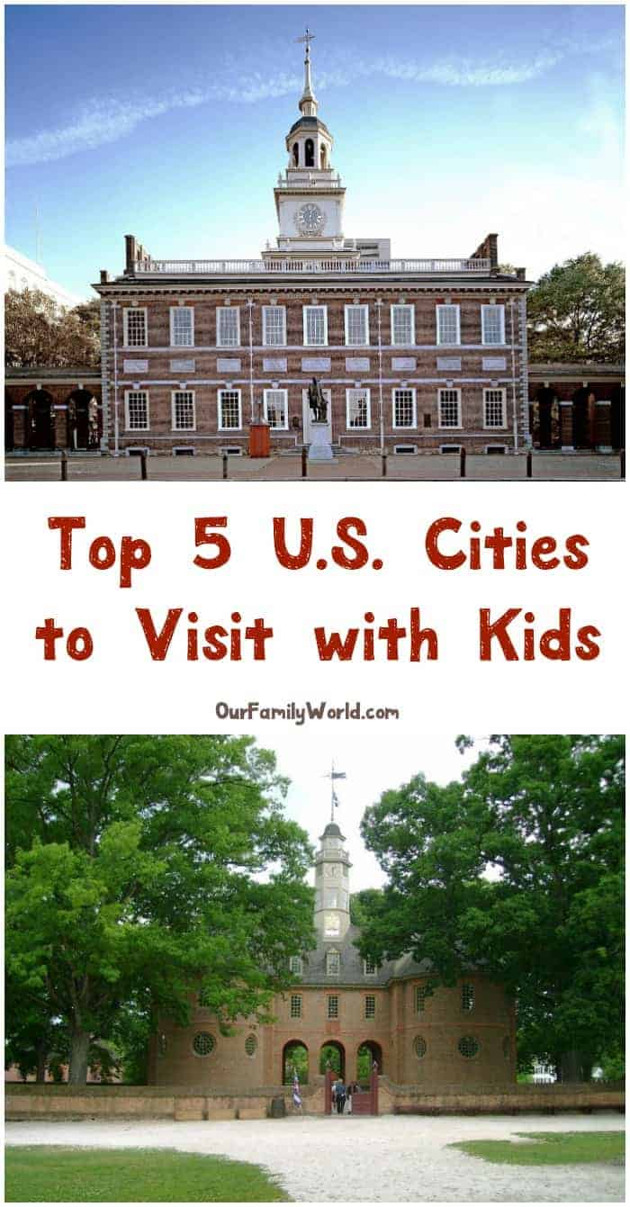 Looking for the best U.S. cities to visit with kids? We've rounded up the top 5 that have the most to offer for kids of all ages! Check them out!