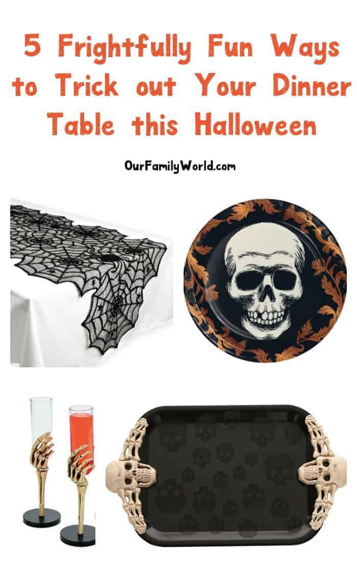 Make your Halloween dinner an event to remember with a tricked out dining table. Whether hosting for your family or the whole neighborhood, the right decor will get everyone in the mood to celebrate.