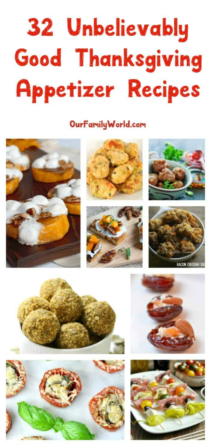 Start a new food tradition this year without sacrificing your favorites with these 32 unbelievably good Thanksgiving appetizer recipes! Check them out!
