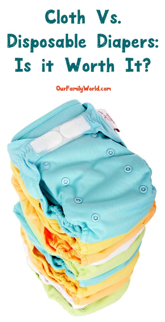Cloth diapers vs disposable diapers: it is worth it in the long run to go with cloth? Check out the pros and cons of each!