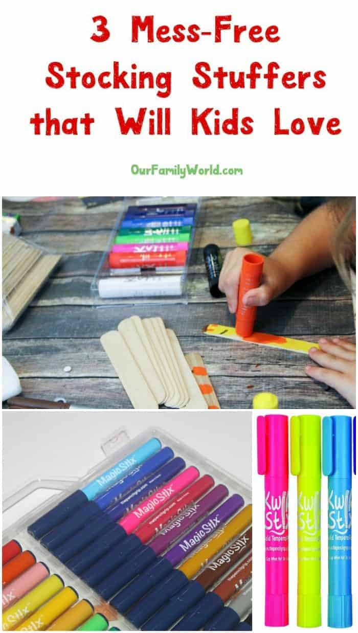 Looking for amazing MESS-FREE stocking stuffers that will encourage creativity in your kids? Check out our top three picks from Kwik Stix!