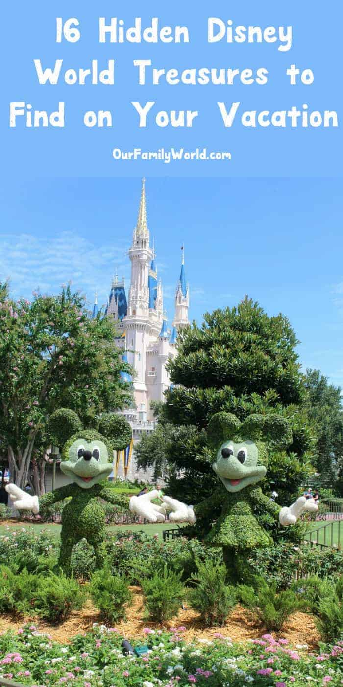 Did you know that Disney World is filled with little secrets? Check out how to find the hidden Disney World treasures & some fabulous must-know tips for planning your vacation!