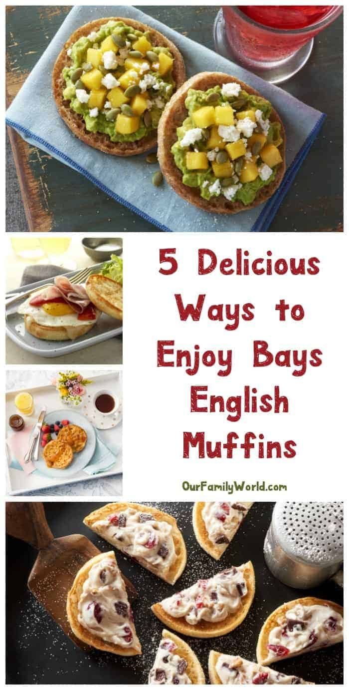 Save time on meals this holiday season with Bays English Muffins! Check out 5 delicious ways to enjoy them that you may not have thought of!