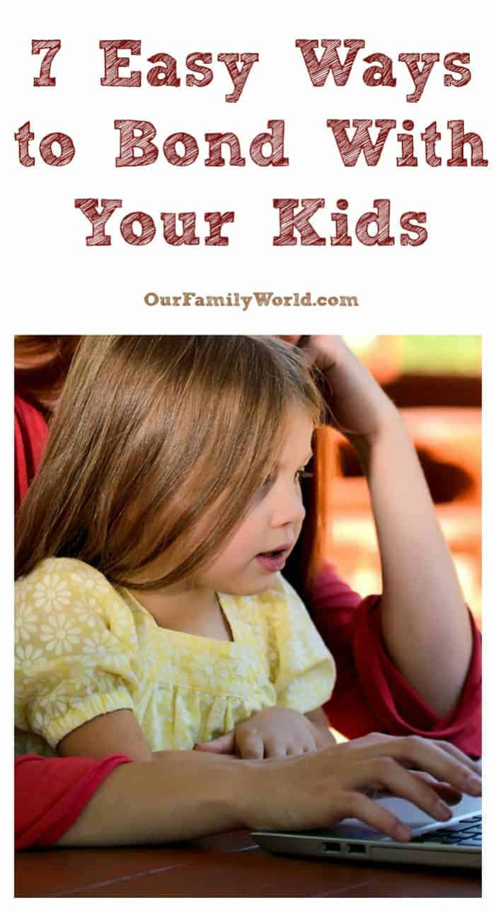 Looking for easy ways to bond with your kids? You're going to love these 7 simple and fun ideas! They're perfect for all ages from tots to teens! Let's check the out!