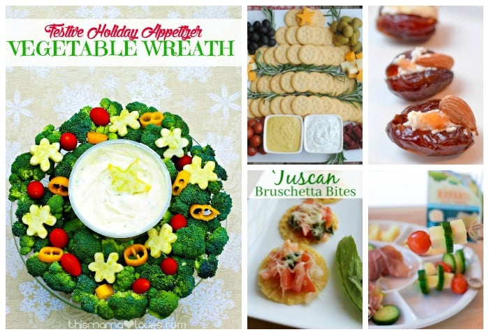 Set a festive table with red and green appetizers to get your guests in a holiday mood! These 14 yummy Christmas sides are sure to tempt your guests!