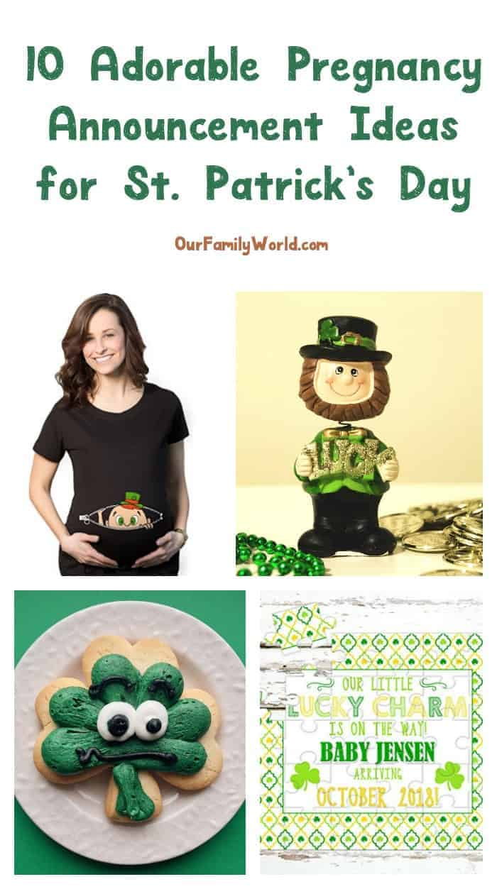 10 Adorable Pregnancy Announcement Ideas for St. Patrick's Day