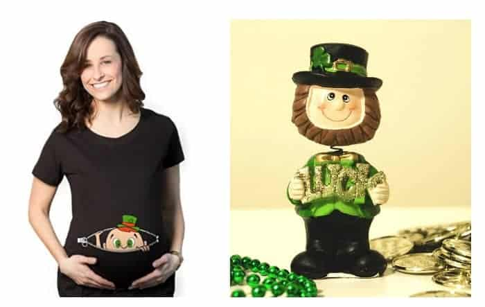 b71dde1c 10 Adorable Pregnancy Announcement Ideas for St. Patrick's Day
