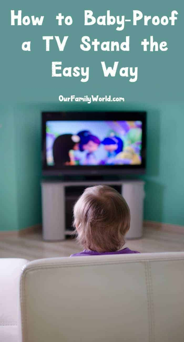 Do you know how to baby proof a TV stand? If not, don't worry, we've got you covered! Read on for tips to help you baby proof that entertainment center the easy way!