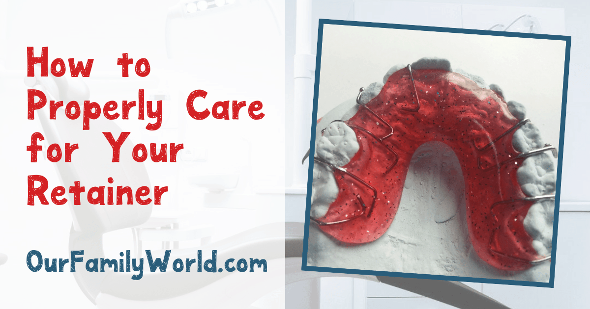 Once your braces come off, you'll most likely need to wear a retainer for a little longer. Taking good care of retainers is a must to keep those teeth healthy! Check out five tips to make it easier!