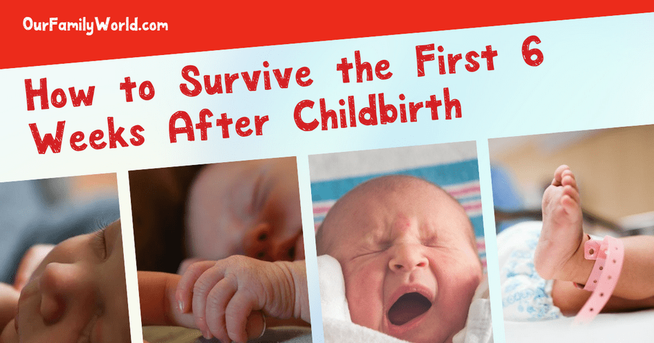 Those first 6 weeks after childbirth can feel like a strange Twilight Zone. Your hormones are out of whack and you're trying to get a handle on motherhood. It doesn't have to be hard! Here are my 6 tips for surviving the first 6 weeks after childbirth.