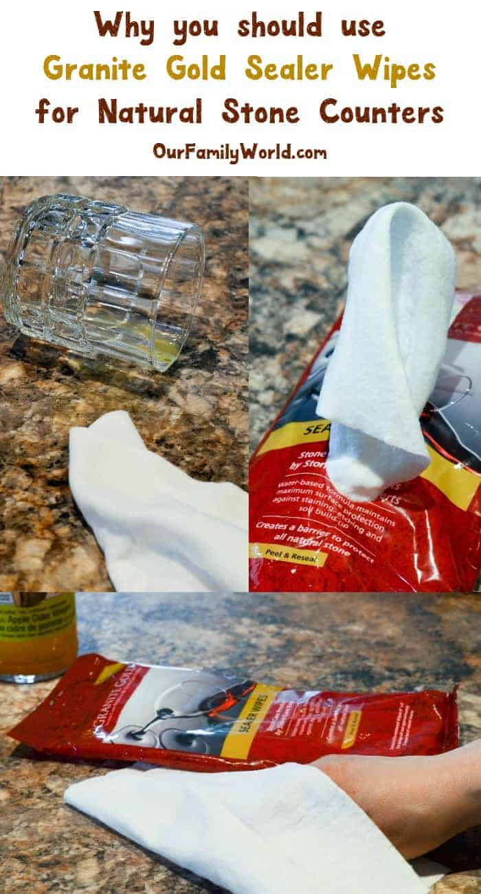 Why you should use Granite Gold Sealer Wipes for your Natural Stone Counters