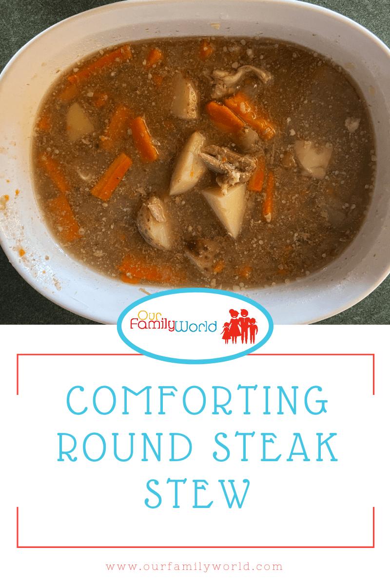 Comforting Round Steak Stew, crockpot, slow cooker