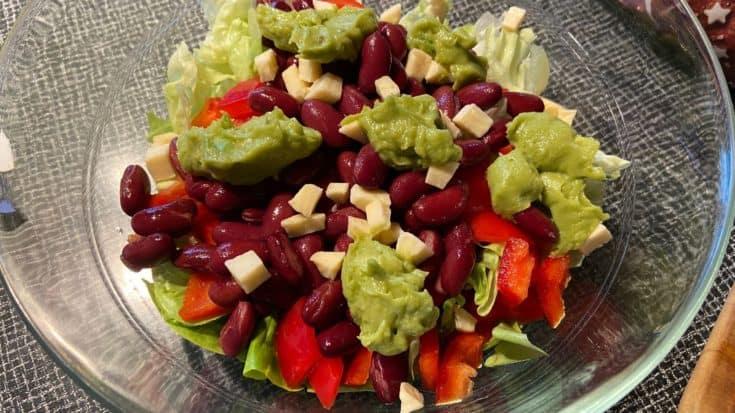 Colorful Vegetarian Taco Salad
